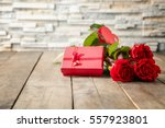 st. valentines day concept.... | Shutterstock . vector #557923801