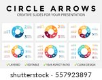 vector circle arrows... | Shutterstock .eps vector #557923897