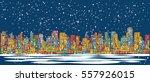 city skyline panorama  winter... | Shutterstock .eps vector #557926015