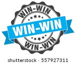 win win. stamp. sticker. seal.... | Shutterstock .eps vector #557927311