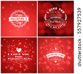 happy valentines day greeting... | Shutterstock .eps vector #557927539
