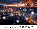 smart city and wireless... | Shutterstock . vector #557933425
