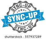sync up. stamp. sticker. seal.... | Shutterstock .eps vector #557937289