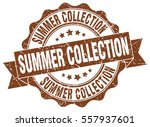summer collection. stamp.... | Shutterstock .eps vector #557937601