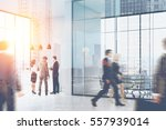 people walking and standing in... | Shutterstock . vector #557939014