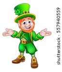 A Cute Cartoon Leprechaun St...