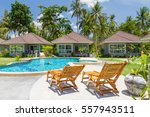 houses  deck chair and... | Shutterstock . vector #557943511