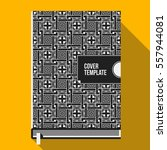 book cover design template with ... | Shutterstock .eps vector #557944081