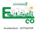 ecology connection  concept... | Shutterstock .eps vector #557946709