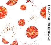 fresh and juicy watercolor... | Shutterstock . vector #557949535