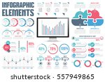 infographic elements   process... | Shutterstock .eps vector #557949865