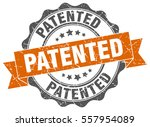 patented. stamp. sticker. seal. ... | Shutterstock .eps vector #557954089