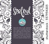 sea food background  vector...   Shutterstock .eps vector #557954305