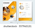 Brochure design. Corporate business report cover, brochure or flyer design. Leaflet presentation. Brochure with abstract circle, round shapes background. Modern poster magazine, layout, template. A4  | Shutterstock vector #557963131