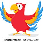cute parrot cartoon | Shutterstock .eps vector #557963929