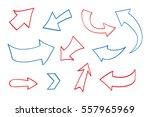 hand drawn arrows.doodle arrows ... | Shutterstock .eps vector #557965969