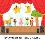 children actors performing... | Shutterstock .eps vector #557972257