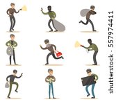 burglars  muggers and thieves... | Shutterstock .eps vector #557974411