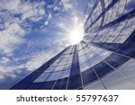 building against the sky with... | Shutterstock . vector #55797637