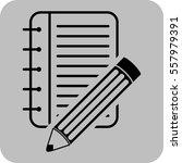 vector illustration of a apiral ... | Shutterstock .eps vector #557979391