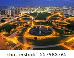 Monumental Axis Of Brasilia At...