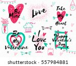 creative typographic collection ... | Shutterstock .eps vector #557984881