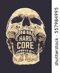 hard core skull vector art....
