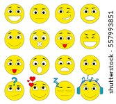 set of emoticons. smiley icons... | Shutterstock .eps vector #557993851