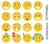 set of emoticons. smiley icons... | Shutterstock .eps vector #557993881