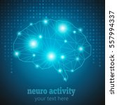 abstract human brain medical... | Shutterstock .eps vector #557994337