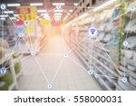 abstract technology futuristic... | Shutterstock . vector #558000031