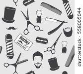 barber shop vintage seamless... | Shutterstock .eps vector #558005044