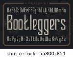 vintage style font. retro... | Shutterstock .eps vector #558005851