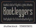 vintage style font. retro... | Shutterstock .eps vector #558005851