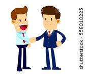 vector stock of two businessman ... | Shutterstock .eps vector #558010225