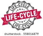 life cycle. stamp. sticker.... | Shutterstock .eps vector #558016879
