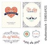 typographic valentine's... | Shutterstock .eps vector #558016921