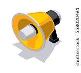isometric loudspeaker icon   Shutterstock .eps vector #558020461