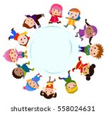 happy children | Shutterstock .eps vector #558024631