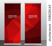 abstract roll up banner... | Shutterstock .eps vector #558028165