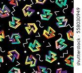vector pattern 80s. geometric...   Shutterstock .eps vector #558030949