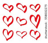 modern vector set of hand drawn ... | Shutterstock .eps vector #558032275