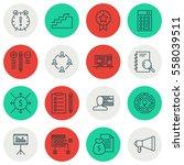 set of 16 project management... | Shutterstock .eps vector #558039511