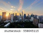 aerial view of bangkok modern...   Shutterstock . vector #558045115