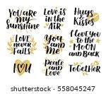vector set of handwritten... | Shutterstock .eps vector #558045247