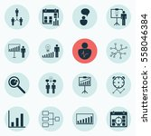set of 16 administration icons. ...   Shutterstock . vector #558046384
