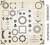 vintage set of classic elements....   Shutterstock .eps vector #558050347