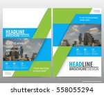 blue and green flyer cover... | Shutterstock .eps vector #558055294