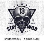typography vintage tee print... | Shutterstock .eps vector #558064681