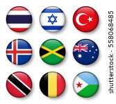 set of world flags round badges ... | Shutterstock .eps vector #558068485